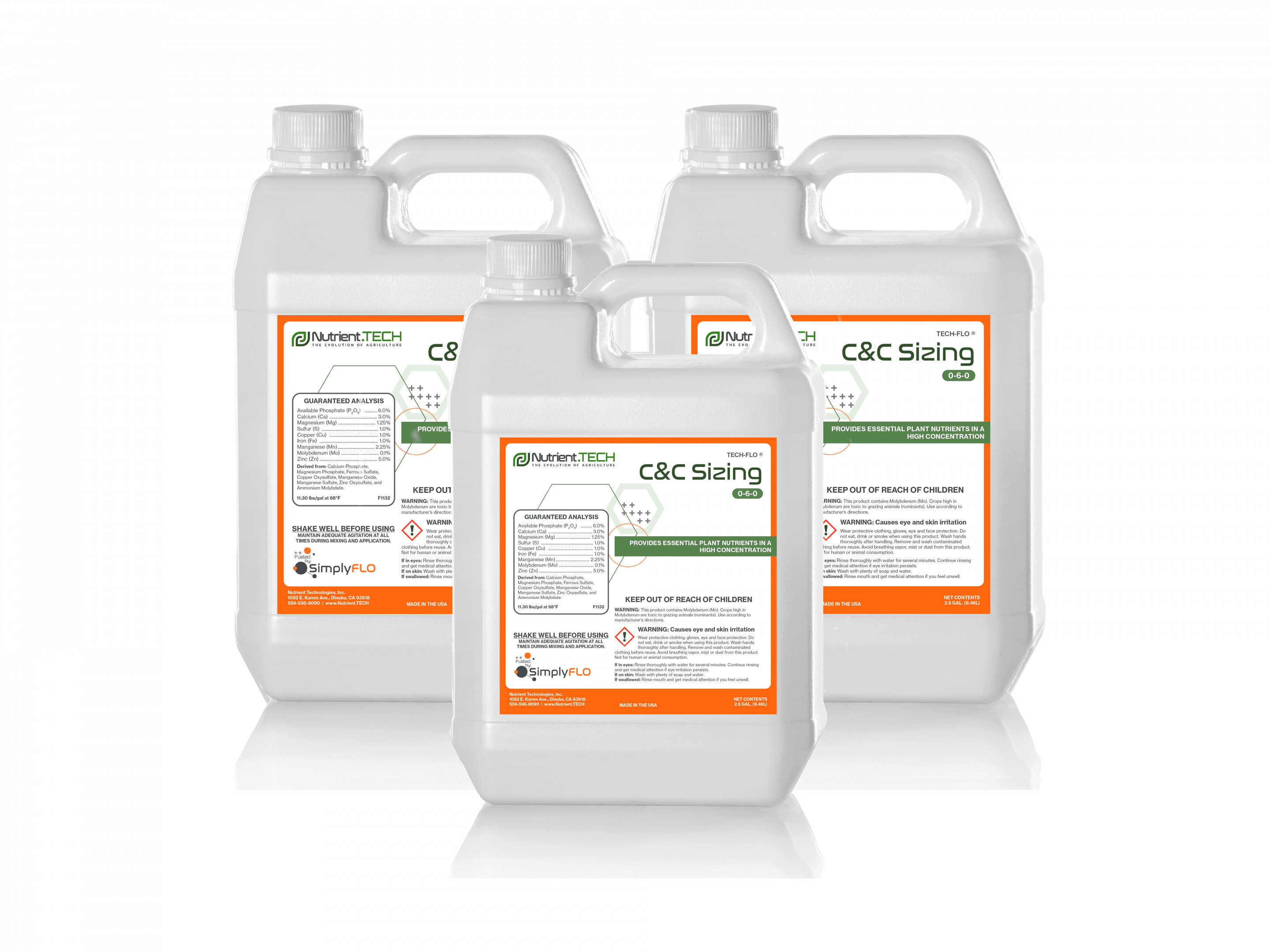 Canopy & Crop Sizing Blend in 3 jugs