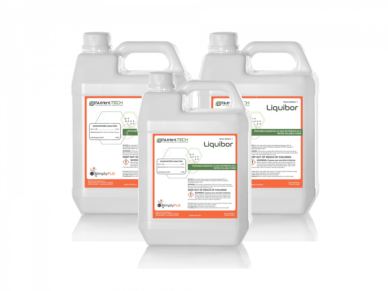Liquibor in 3 jugs