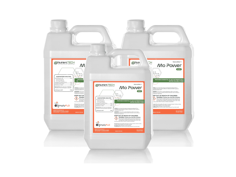 Mo-Power in 3 jugs