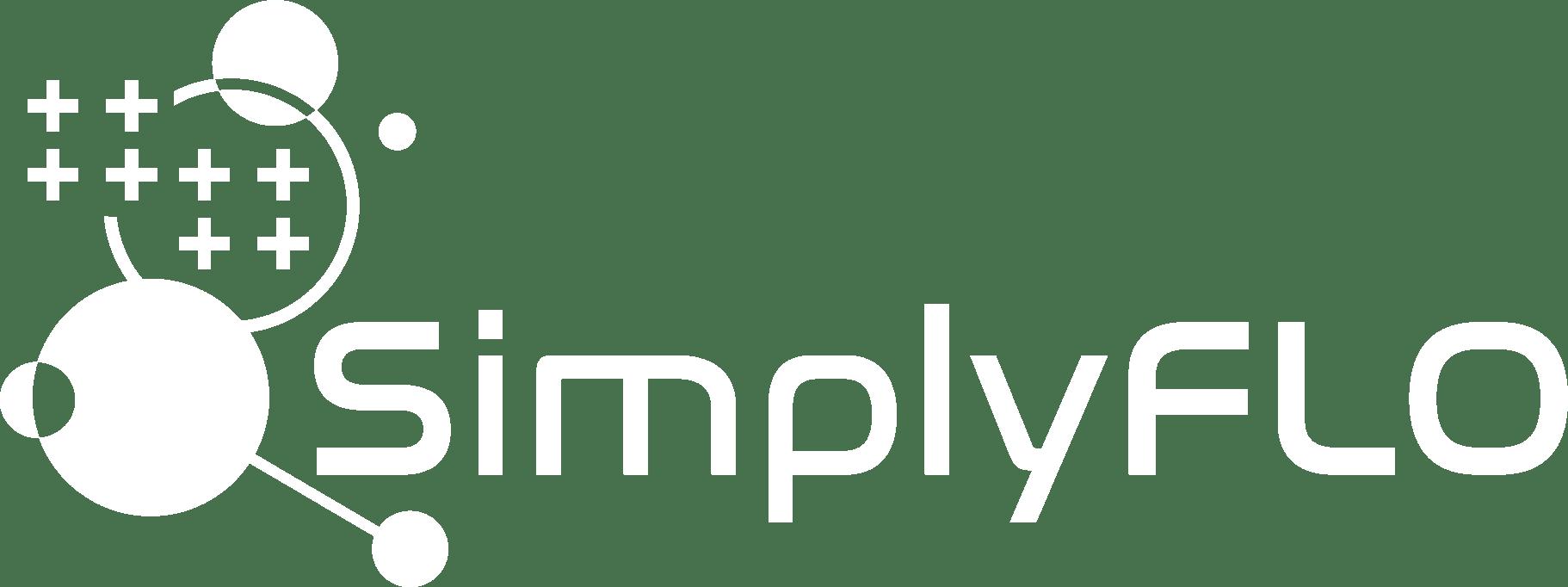 White SimplyFLO logo 2